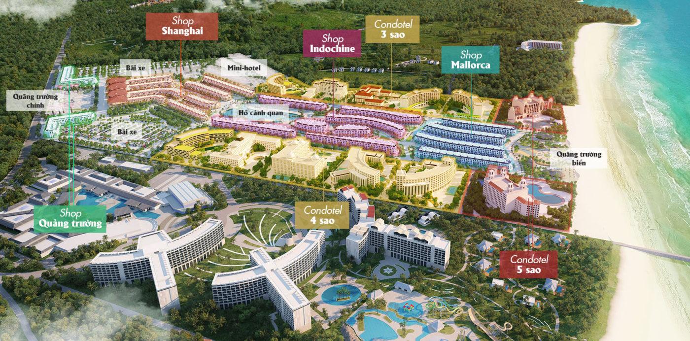 Bản Đồ và Các Tiện Ích Grand World Phú Quốc